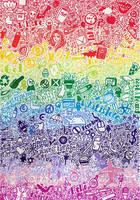 Rainbow Life Doodle by Ithelda