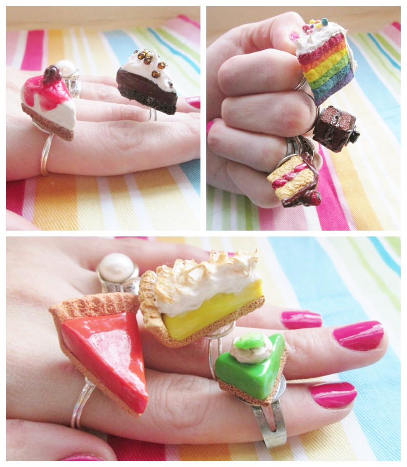Polymer Clay Dessert Rings 1 by Ithelda