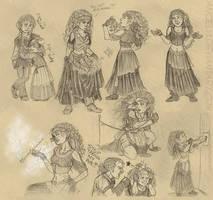 Trudy Sketches by angelvi
