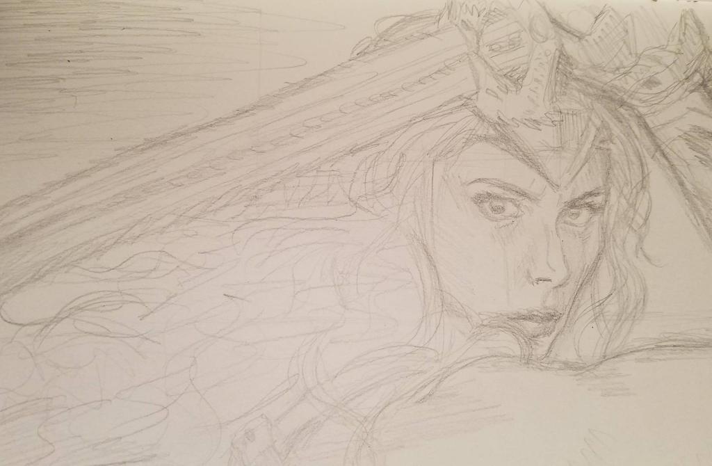 COMMISSION: Wonder Woman WIP by angelvi