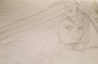 COMMISSION: Wonder Woman WIP