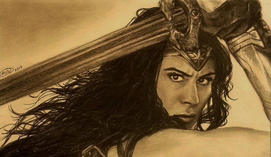COMMISSION: Wonder Woman by angelvi