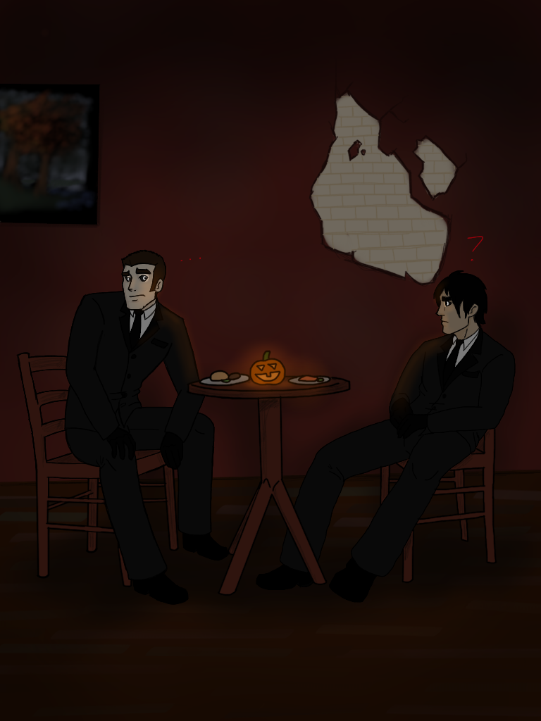 awkward halloween date night by kenzi283 on deviantart. Black Bedroom Furniture Sets. Home Design Ideas