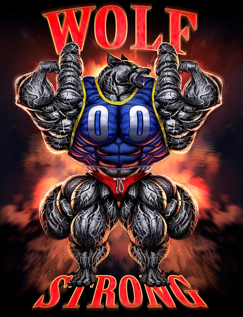 Strong WOlf by Schreddedwolf