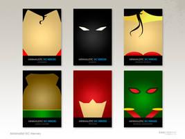 Minimalist DC Heroes by rawcre8tive