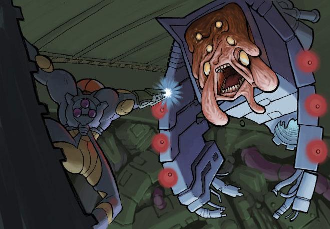 Samus vs Nightmare by oh8