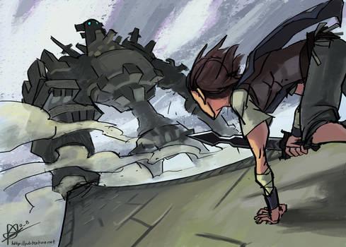 Wander vs the Colossus