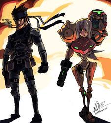 Samus and Snake