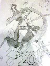 Black Rock Shooter sign by oh8