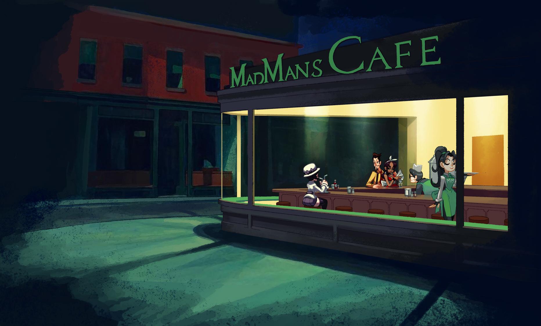 Madman's Nighthawks by oh8 on DeviantArt
