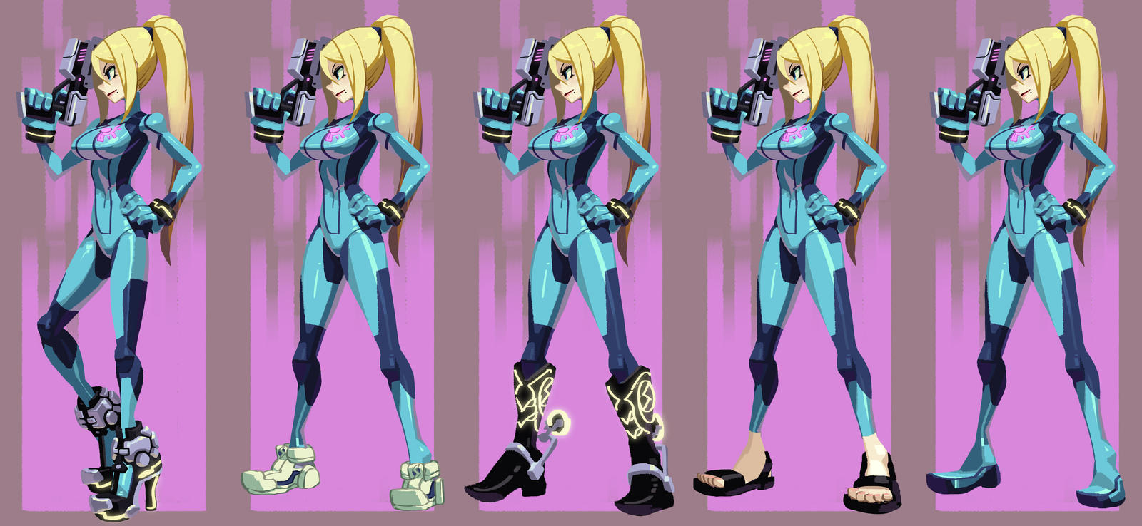 Samus shoe styles by oh8