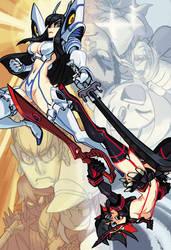 Kill la Kill: Satsuki and Ryuko