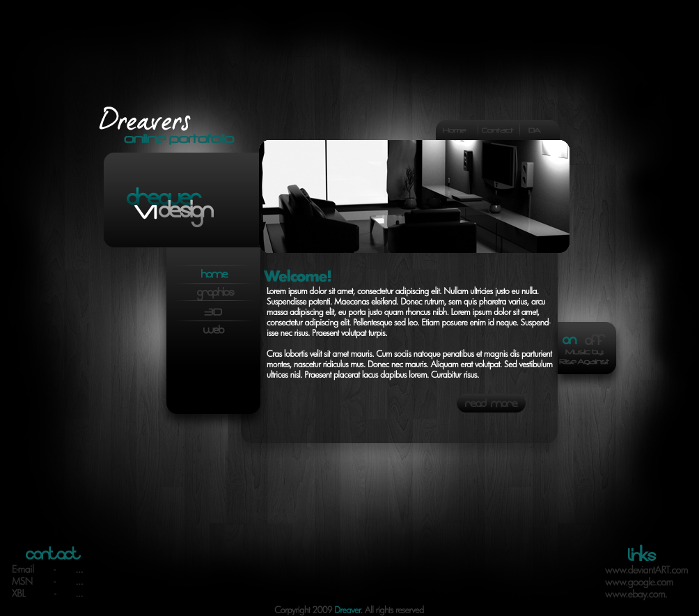 Dark Website Template By Dreaverr On Deviantart