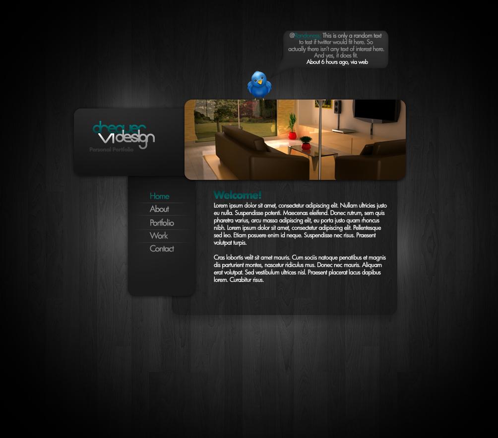 Portfolio Website Template by Dreaverr on DeviantArt