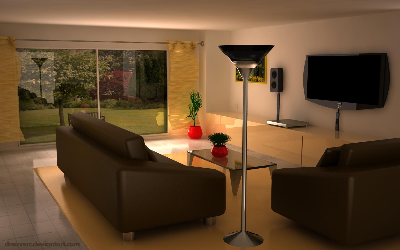 Interior vray livingroom scene by dreaverr on deviantart for Vray interior scene