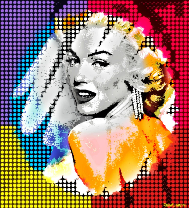 Marilyn-Vintage Retro Pop by DiosaLuminosa