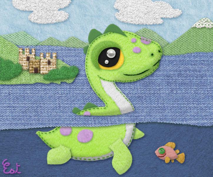 Art challenge Creatury : Nessie