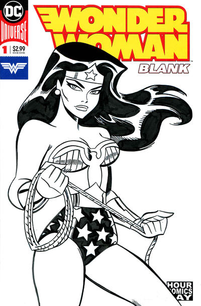 1970's Wonder Woman in the style of Bruce Timm
