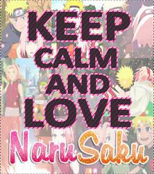 Keep Calm and love NaruSaku by BarbiiHaruno