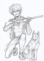 I Call Shotgun! - Sketch by IAmAlexius