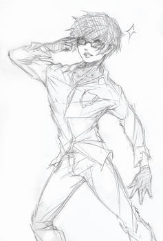 Silly pose - Sketch