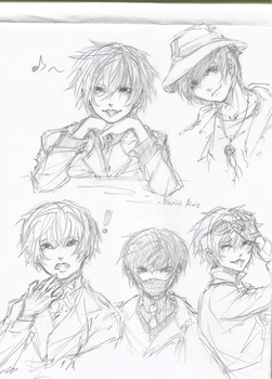 Character designs - sketch