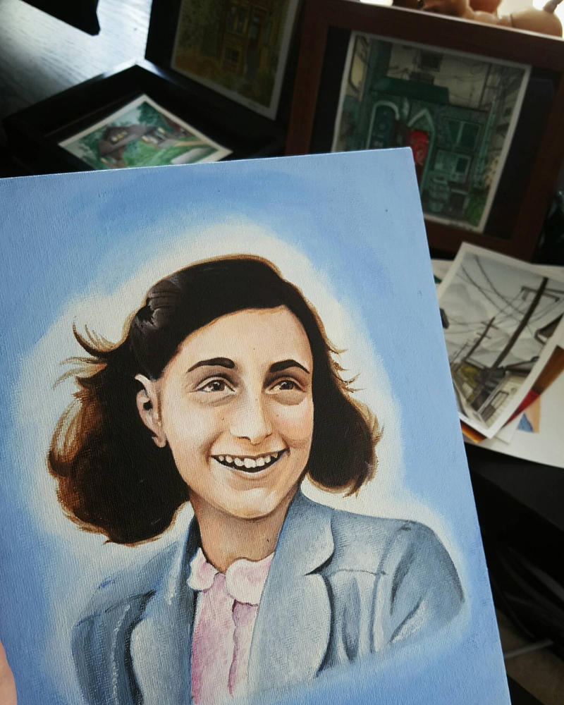 Portrait of Anne Frank by SNEStrogen