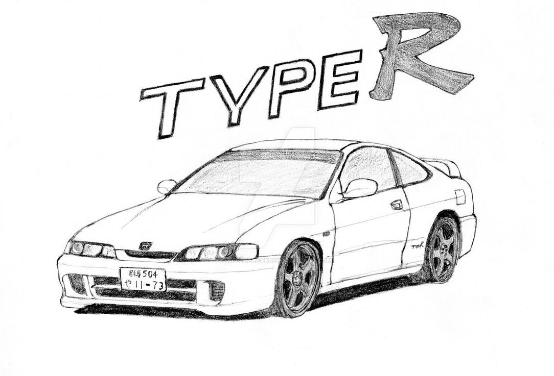 honda integra type r  dc2  by speedfreakj on deviantart