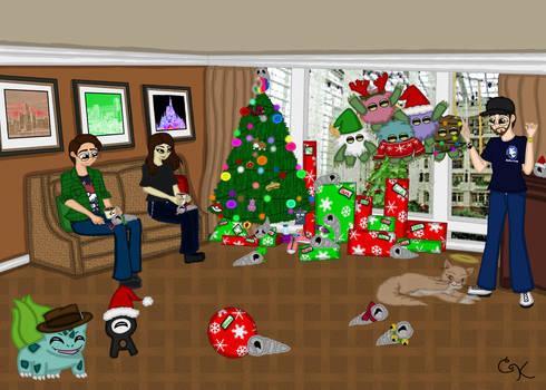 Commission- Dodger Christmas Card 2014