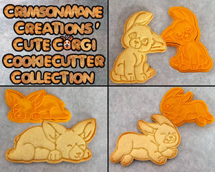 Cute Corgi Cookie Cutters by Crimson-Mane