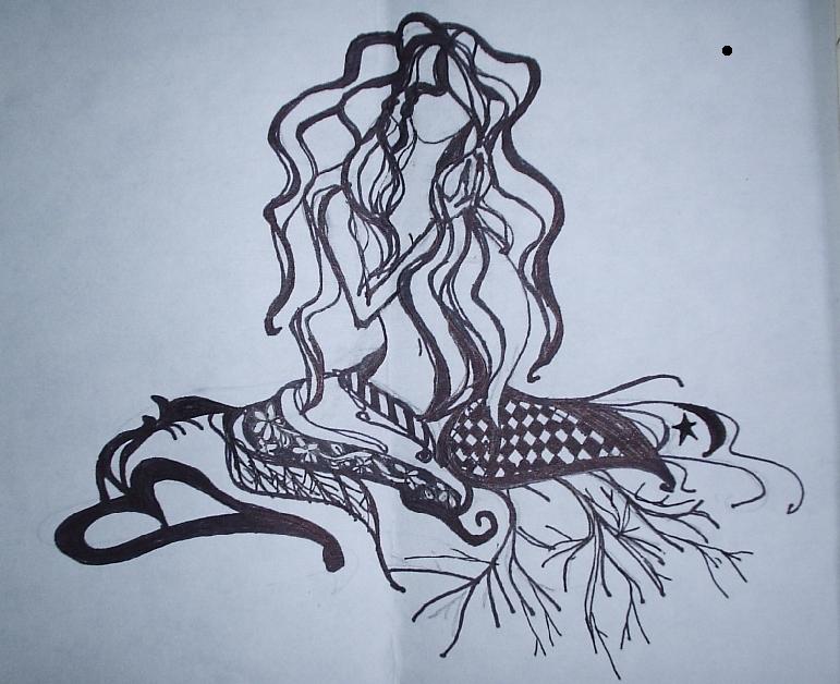 seaweed ribbon woman by histrophywife on deviantart. Black Bedroom Furniture Sets. Home Design Ideas