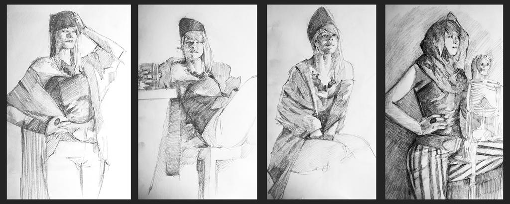 Model sketching by mannequin-atelier