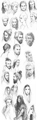 Sketches compilation - January by mannequin-atelier