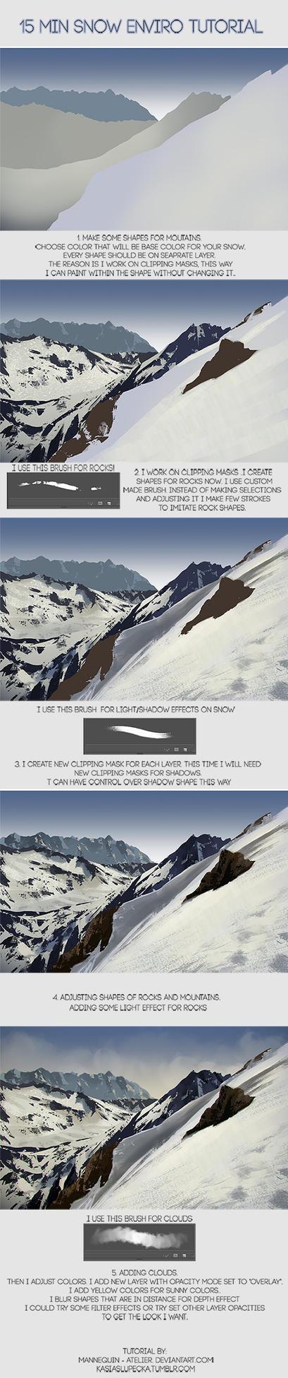 15 min Snowy enviro tutorial by mannequin-atelier