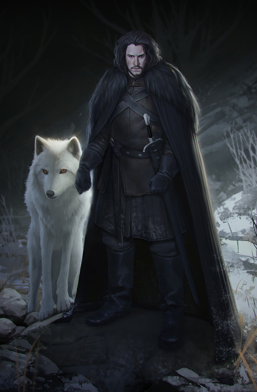 Jon Snow and Ghost by mannequin-atelier