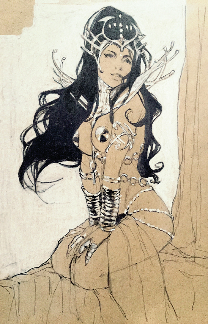 Dejah Thoris sketch by mannequin-atelier