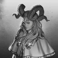 Faun shaman portrait by mannequin-atelier