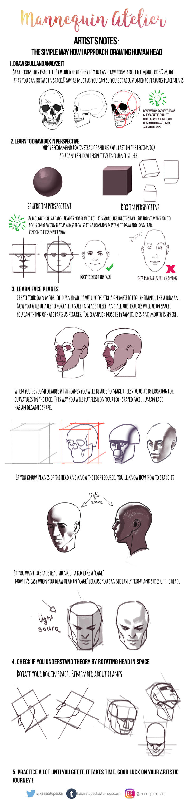 My Notes On Drawing Head By Mannequin Atelier On Deviantart