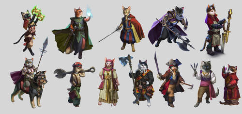 'CATaclysm' cats compilation 2 by mannequin-atelier