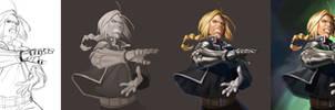 Fullmetal Alchemist Edward - steps