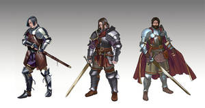 Character Design Knights by mannequin-atelier