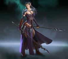 Dark elf warrior by mannequin-atelier
