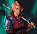 Young swordwoman