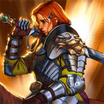 Redhead lady knight