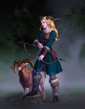 Huntress and her companion