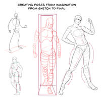 Creating poses from imagination