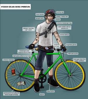 Fixed Gear Bike Poseur