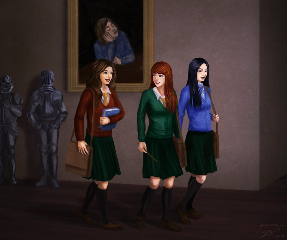 hermione ginny and cho strolling by jtine on deviantart