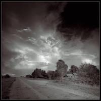 Landscape in b-w by Koptelov