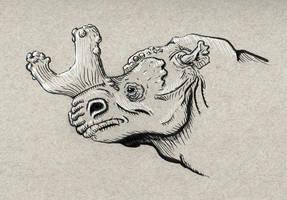 PrehistoricRhino by JosueMariscal